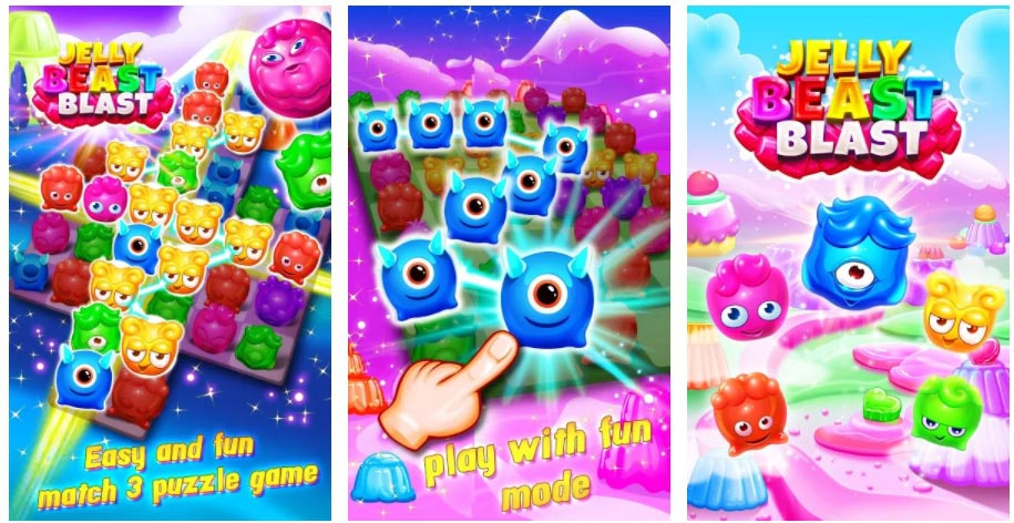 jelly beast blast jeux similaires à candy crush