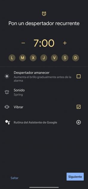 calendrier de l'horloge google en mode veille