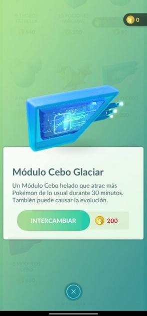 module d'appât pokémon go glacier